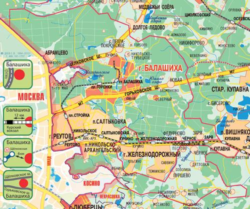 Екатеринбурга карта города балашиха московской обл отношение какое