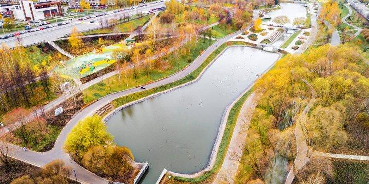Благоустройство парка в пойме реки Битцы завершено