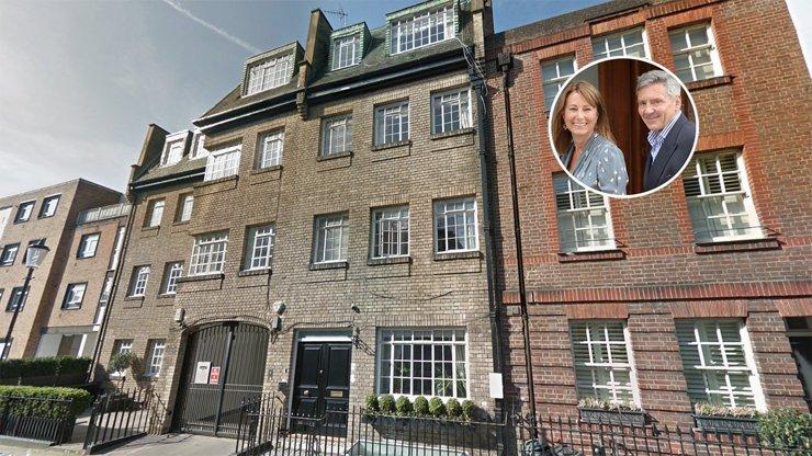 Квартира семейства Миддлтон выставлена на продажу за £1.95 млн