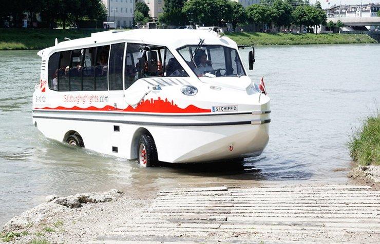 В столице утвердили маршрут для автобусов-амфибий