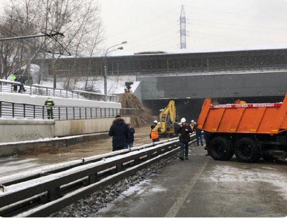 Восстановление дамбы над Тушинским тоннелем обойдется в 500 млн рублей