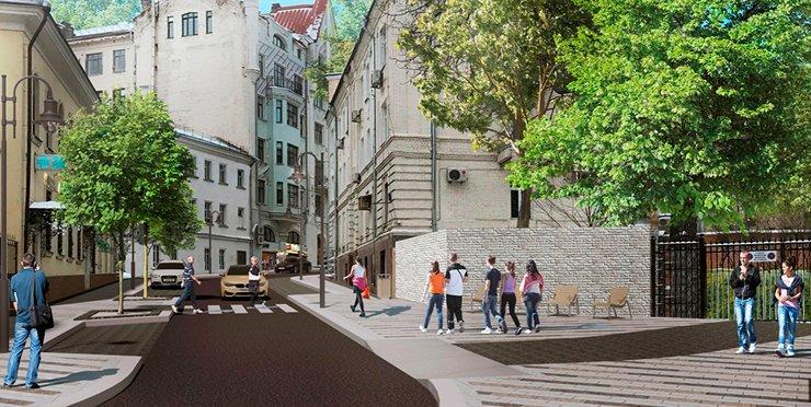 В Москве благоустроят переулки на Патриарших прудах