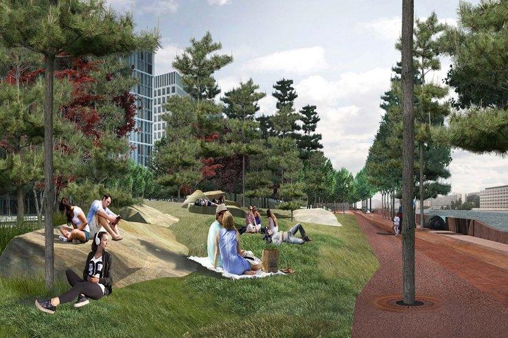 На набережной Марка Шагала разобьют сады