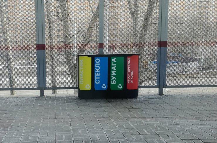 В Челябинске убирают контейнеры для раздельного сбора мусора
