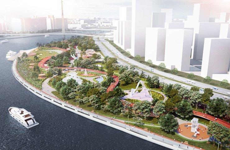Вдоль набережных Марка Шагала и затона Новинки появится крупный парк