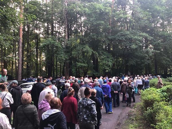 Жители Барвихи вышли на массовую прогулку, чтобы защитить лес от застройки