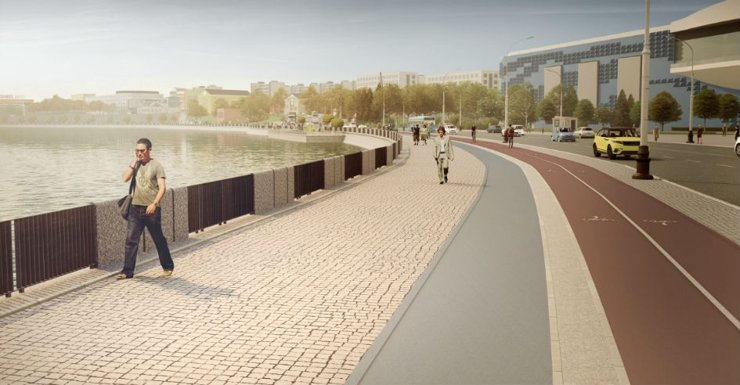 На двух набережных Москвы-реки создадут непрерывный прогулочный маршрут