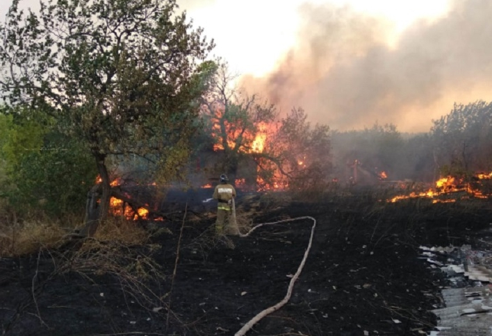 В трех районах Ростовской области из-за природных пожаров введен режим ЧС