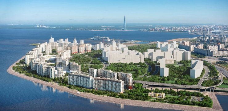 В Петербурге на Васильевском острове построят комплекс площадью 1 млн кв. м