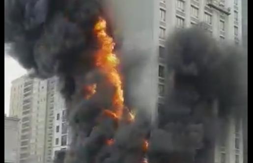 В Екатеринбурге произошел пожар в ЖК «Квартал Федерация»