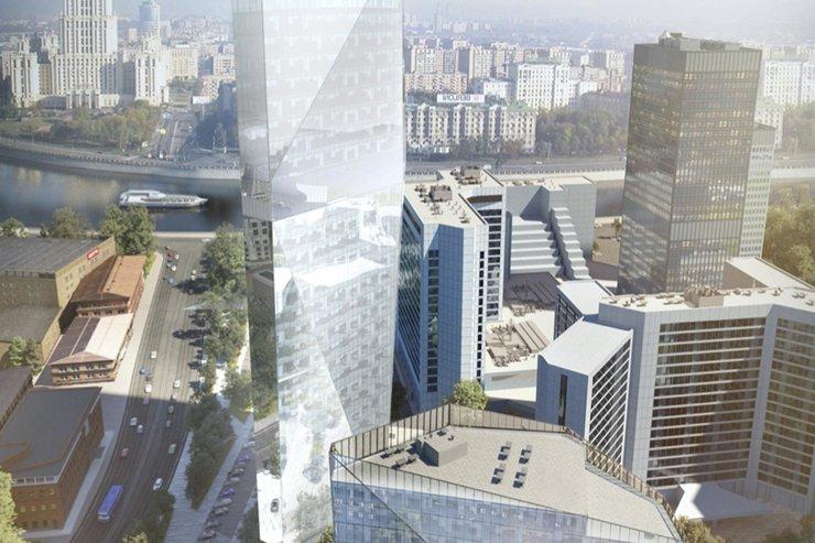 В Пресненском районе Москвы построят высотную башню кристаллической формы