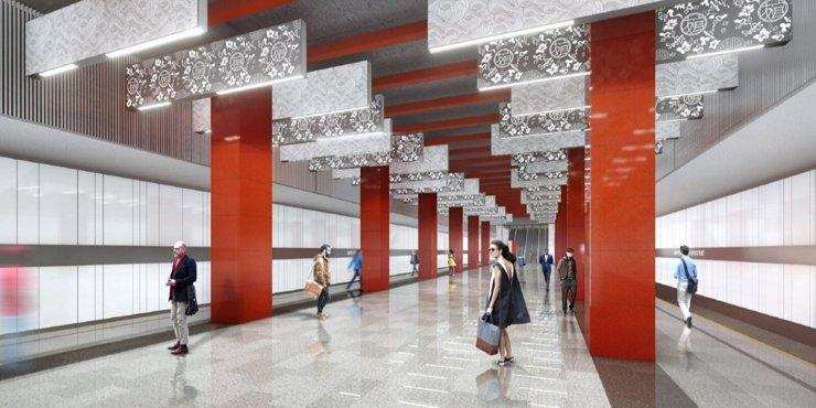 Станцию «Мичуринский проспект» оформят в китайском стиле