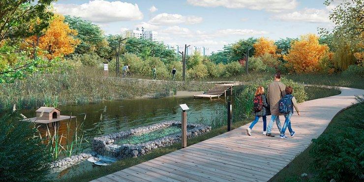 В парке «Яуза» появятся экотропа и интерактивная площадка для изучения профессий будущего
