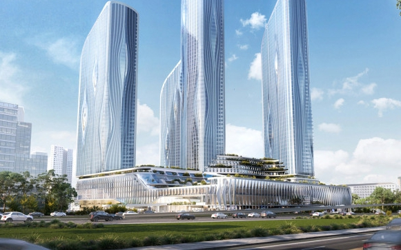 В Москве по проекту ZahaHadidArchitects построят комплекс высоток в бионическом стиле