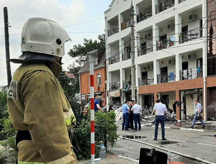 В гостинице в Геленджике произошел взрыв газа