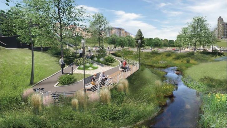 В Новосибирске утвердили проект благоустройства парка в пойме реки Первая Ельцовка