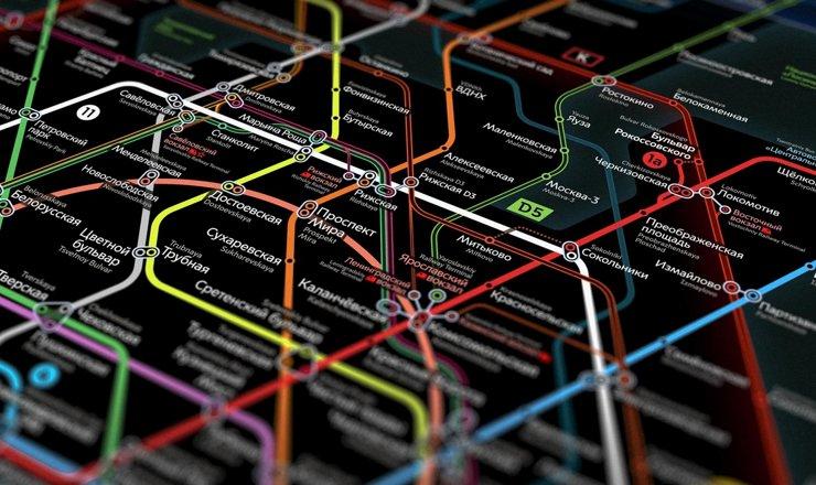 Дизайнеры показали схему Московского метро 2030 года
