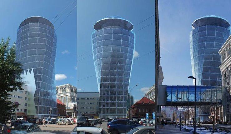 Архитекторы раскритиковали проект вращающейся башни за мэрией Екатеринбурга