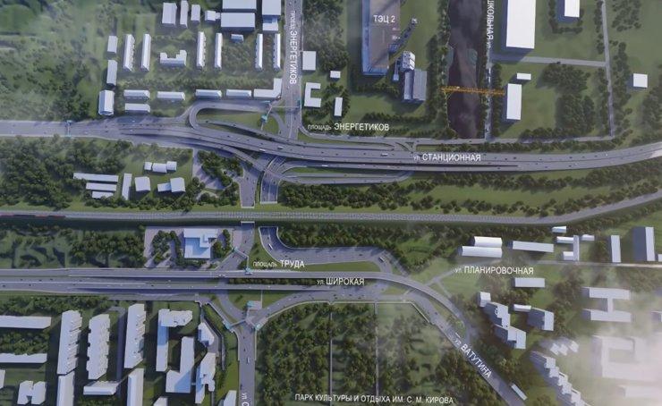 В Новосибирске в районе площади Энергетиков построят 140-метровый путепровод