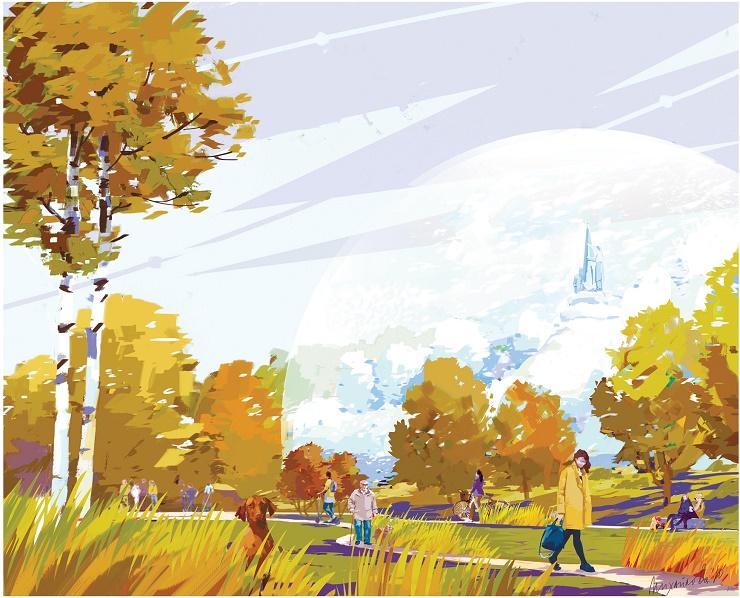 Чебоксарцы в календаре на 2019 год изобразили город будущего