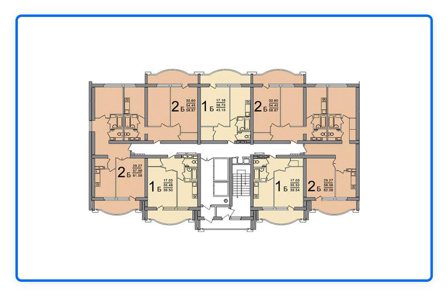 планировки многоквартирных жилых домов за рубежом