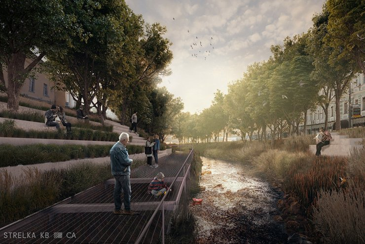 Урбанисты смоделировали возвращение подземных рек на московские улицы