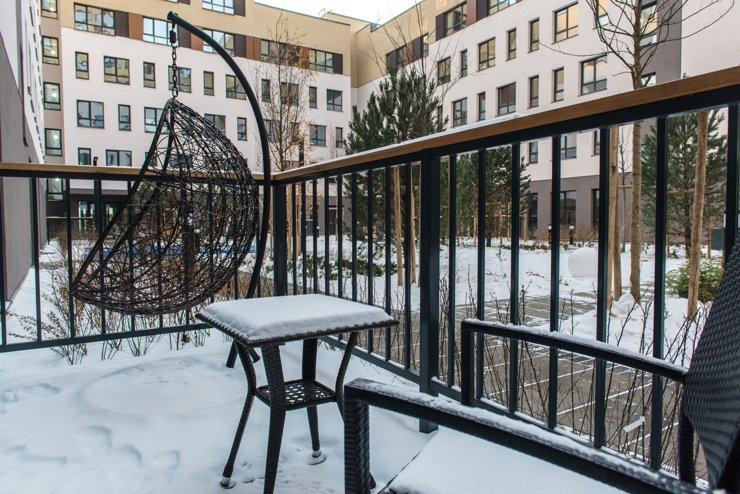 Квартиры на первых этажах имеют широкие террасы